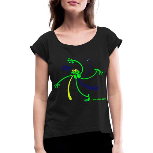Dancing Frog - Women's T-Shirt with rolled up sleeves