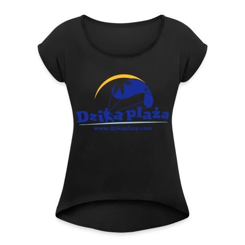 Dzika Plaza - Koszulka damska z lekko podwiniętymi rękawami