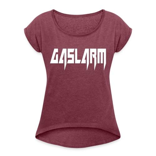 GASLARM Merchandize - T-shirt med upprullade ärmar dam