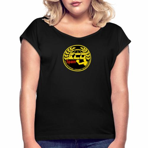 ICO SPAIN - Camiseta con manga enrollada mujer