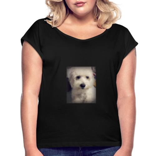 Podle blanco - Camiseta con manga enrollada mujer