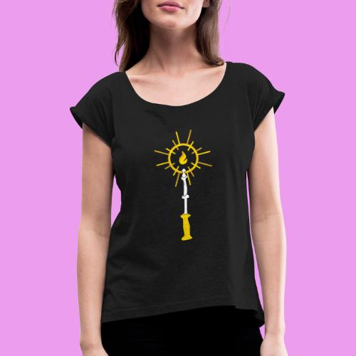 Luminoso - Women's T-Shirt with rolled up sleeves