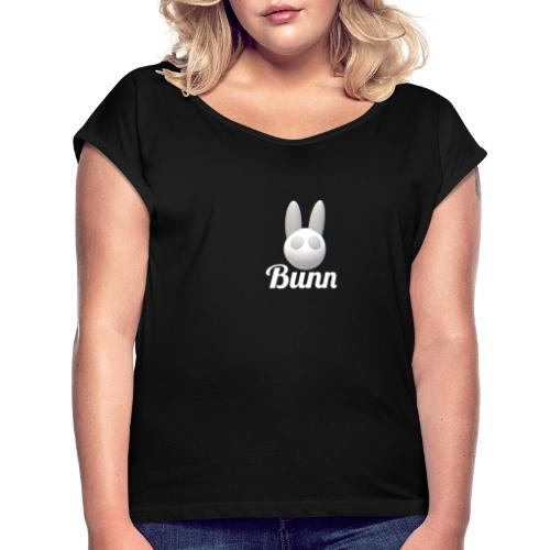 White Bunn - Women's T-Shirt with rolled up sleeves