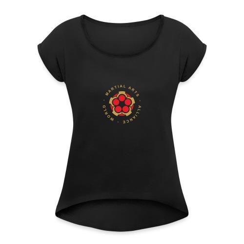 WMAA-logo_xl - Frauen T-Shirt mit gerollten Ärmeln