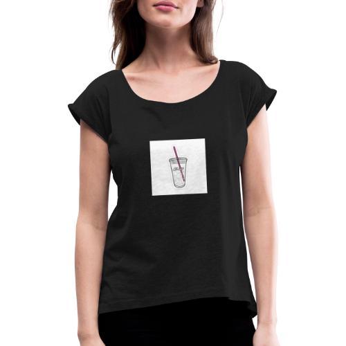 e459b4e4bfd3ba94c14d82f49b8ae440 - Camiseta con manga enrollada mujer