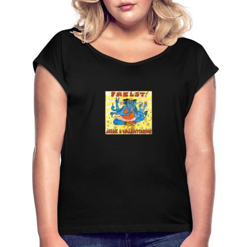 Jokke - T-skjorte med rulleermer for kvinner
