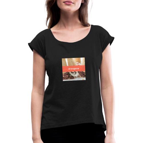 drengene hoodie - Dame T-shirt med rulleærmer