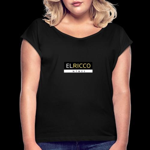 ELRicco - T-shirt à manches retroussées Femme