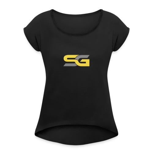 SibertGamer T-Shirt bleu - Vrouwen T-shirt met opgerolde mouwen
