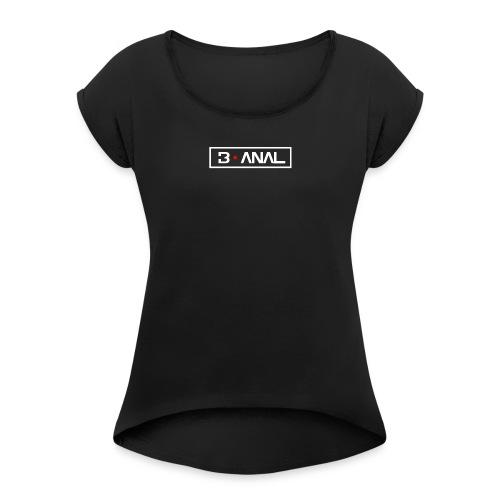 logo lineare - Maglietta da donna con risvolti