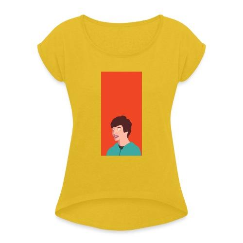 Aron Deksel v.2 Galaxy S6 - T-skjorte med rulleermer for kvinner