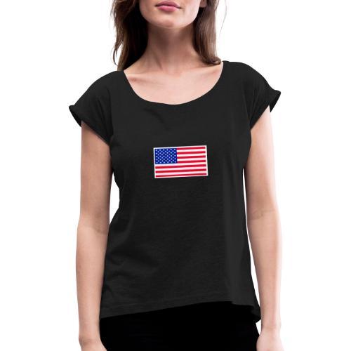 20190828 023927 - T-shirt med upprullade ärmar dam
