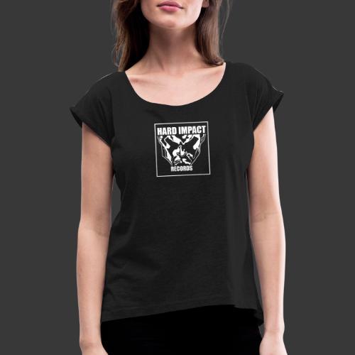 Hard Impact Records - Maglietta da donna con risvolti