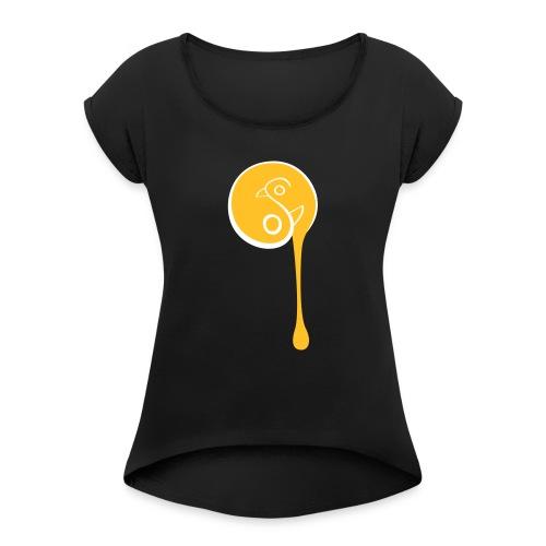 YinYang Birds - Frauen T-Shirt mit gerollten Ärmeln