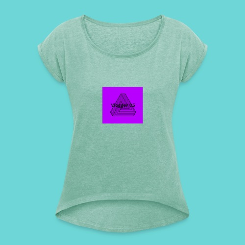 2018 logo - Women's T-Shirt with rolled up sleeves