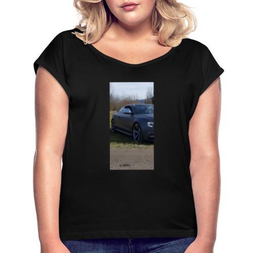 Carporn - Frauen T-Shirt mit gerollten Ärmeln