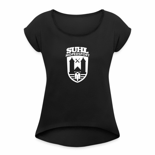 Suhl Mopedsport Schwalbe 2 Logo - Women's T-Shirt with rolled up sleeves