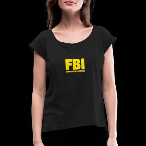 FBI - T-shirt à manches retroussées Femme