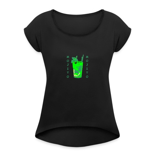 Mojito bicchiere colorato - Maglietta da donna con risvolti