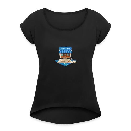 desarrollo-tienda-online-virtual - Camiseta con manga enrollada mujer