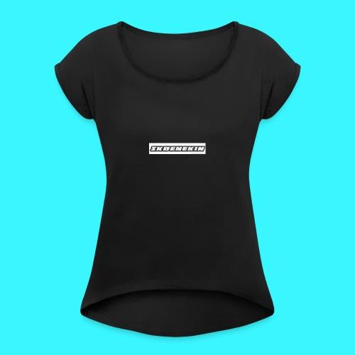 Pet - Vrouwen T-shirt met opgerolde mouwen