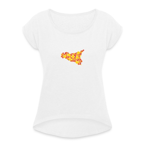 logo sicilia piccolo - Maglietta da donna con risvolti
