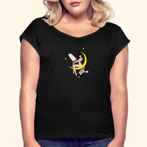 V2 Pinup Girl - T-shirt med upprullade ärmar dam