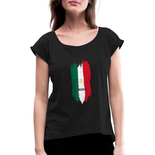 LLEVA A MEXICO A TODAS PARTES - Camiseta con manga enrollada mujer