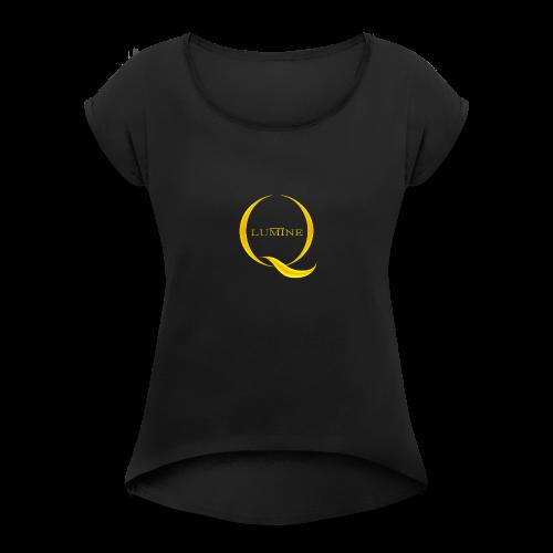 SARVILOGO - Naisten T-paita, jossa rullatut hihat