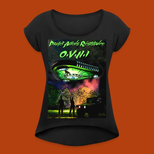 T Shirt ovni green 01 - T-shirt à manches retroussées Femme