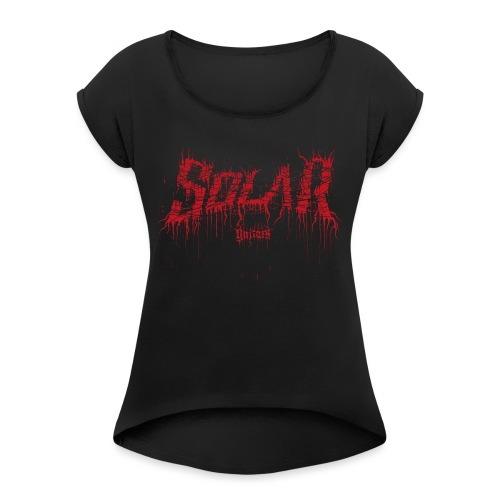 Solar Guitars Deathmet Red - Women's T-Shirt with rolled up sleeves