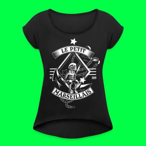 le petit marseillais - T-shirt à manches retroussées Femme