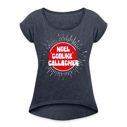 Noel Gallagher 'Godlike' - White on Red - Maglietta da donna con risvolti
