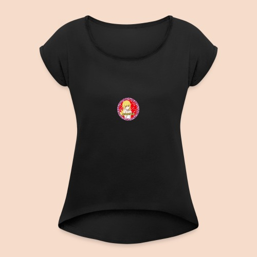 Animawka - Koszulka damska z lekko podwiniętymi rękawami