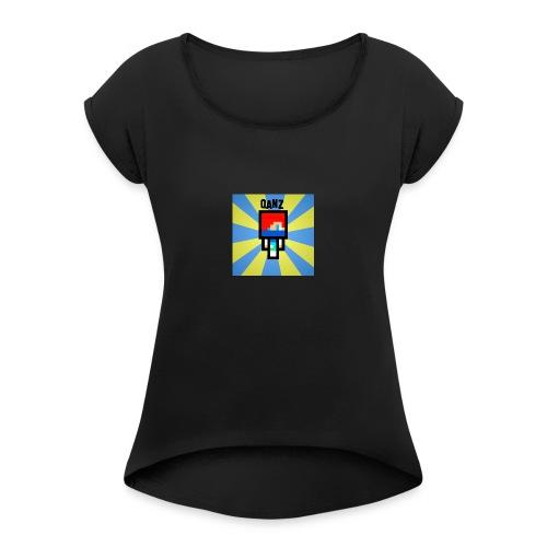 Qanz Gaming Deksel - T-skjorte med rulleermer for kvinner