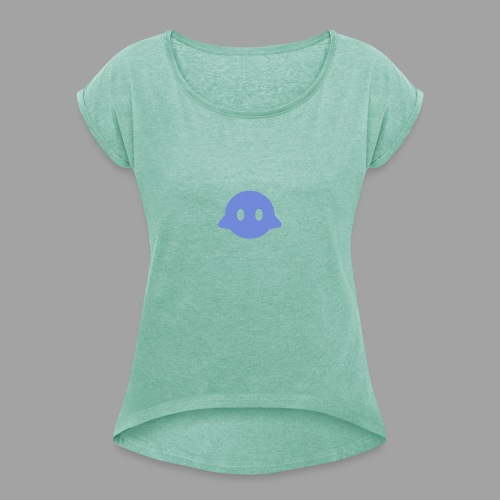 Bots For Discord Logo - Women's T-Shirt with rolled up sleeves