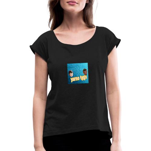 yarnotygo - Vrouwen T-shirt met opgerolde mouwen