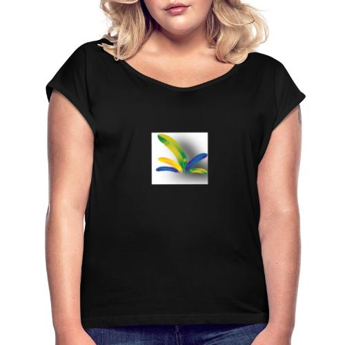 Palm - Vrouwen T-shirt met opgerolde mouwen