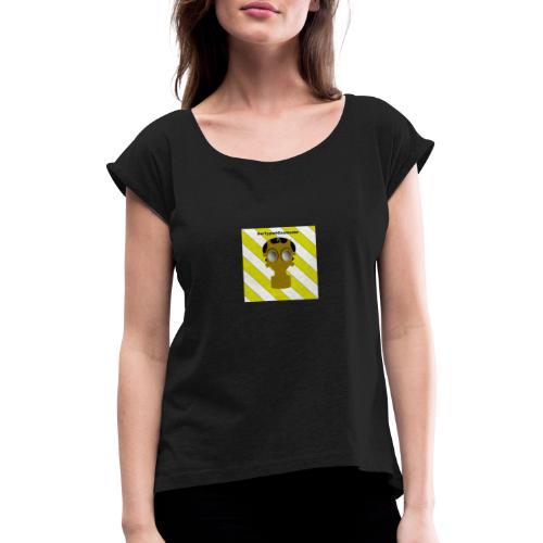 Gasmasken Logo 1 - Frauen T-Shirt mit gerollten Ärmeln