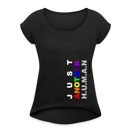 JustAnotherHuman - By GoS.fashi - T-shirt med upprullade ärmar dam