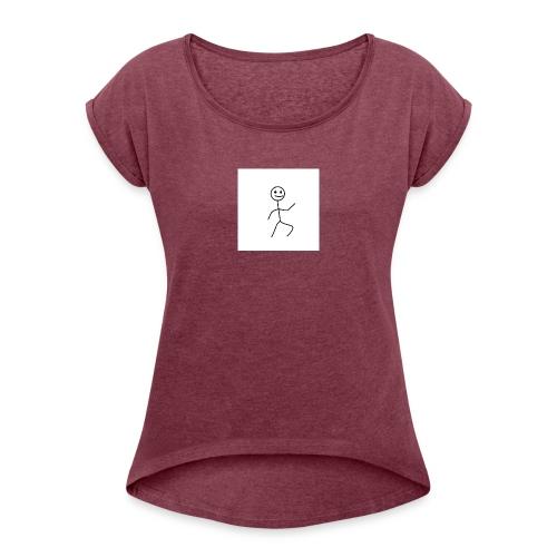 stick man t-shirt dance 1,0 - Dame T-shirt med rulleærmer