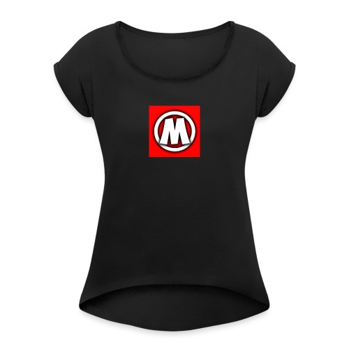 Plain T-Shirt - Women's T-Shirt with rolled up sleeves