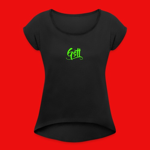 Gstl_Logo_-Green- - Women's T-Shirt with rolled up sleeves