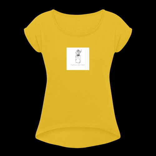 l'amour est mort - T-shirt à manches retroussées Femme