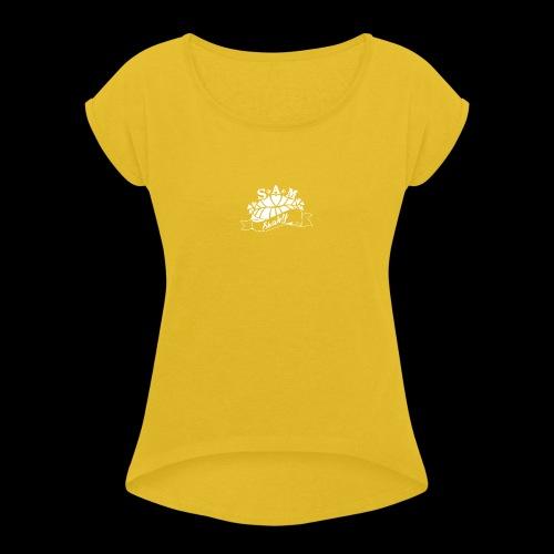 SamShaky - Naisten T-paita, jossa rullatut hihat