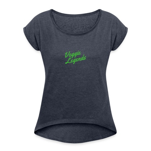 Veggie Legends - Women's T-Shirt with rolled up sleeves