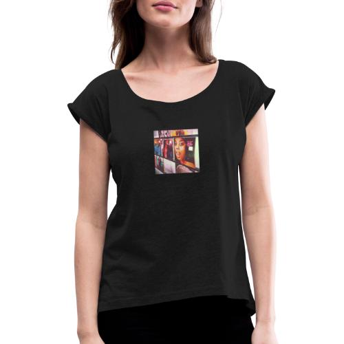 Classic Vinyl - Women's T-Shirt with rolled up sleeves