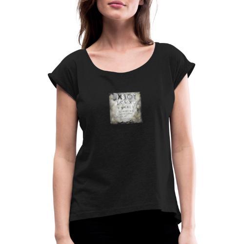 Phoenician Eye Test - Frauen T-Shirt mit gerollten Ärmeln