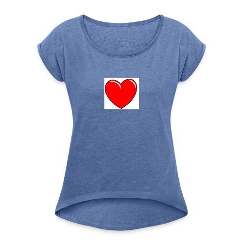Love shirts - Vrouwen T-shirt met opgerolde mouwen