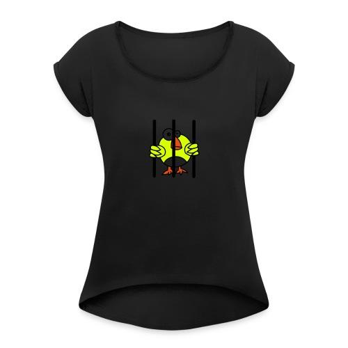 Vögelfrei - Frauen T-Shirt mit gerollten Ärmeln